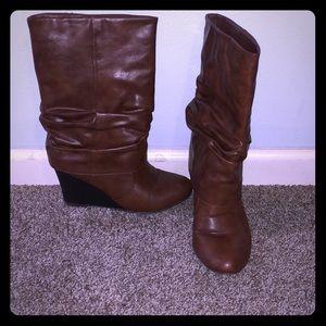 Mid calf Madden Girl Cognac boots